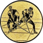 Emblem 50mm 2 Hokeyspieler, gold