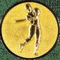 Emblem 50mm Baseball Spieler, gold
