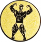 Emblem 50mm Bodybuilding mänl., gold