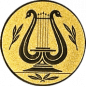 Emblem 50mm LYRA, gold