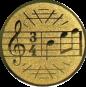 Emblem 50mm Notenschlüssel 3/4, gold