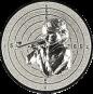 Emblem 50mm Zeilsch. Schütze Gewehr 3D, silber schießen
