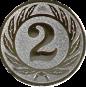 Emblem 50 mm Ehrenkranz mit 2, silber