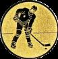Emblem 50mm Eishokeyspieler, gold