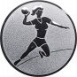 Emblem 50mm Handball Werferin, silber