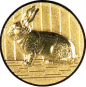 Emblem 50mm Hase 3D, gold