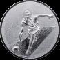Emblem 50mm Kegeln 3D, silber