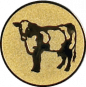 Emblem 50mm Kuh, gold