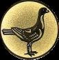 Emblem 50mm Taube rechts, gold
