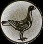 Emblem 50mm Taube rechts, silber