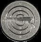 Emblem 50mm Zeilsch. Pistole 3D, silber schießen