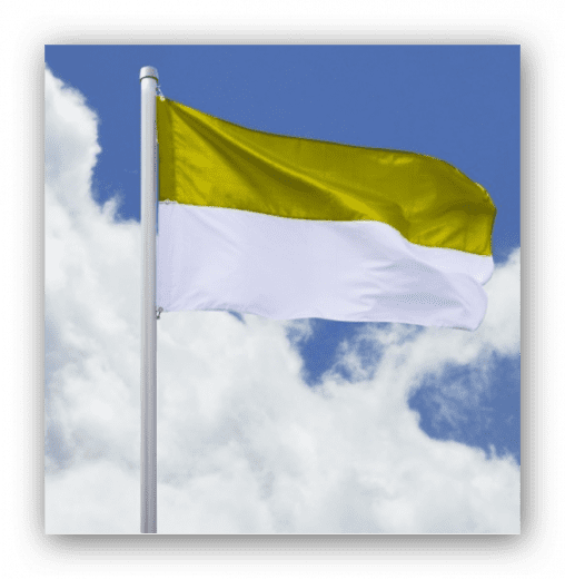 SALE: Hissfahne Quer - Flagge gelb-weiß 120 x 200cm