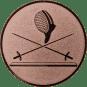 Emblem 25 mm 2 Florette Und Maske, bronze