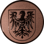 Emblem 25 mm Adlerwappen, bronze