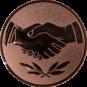 Emblem 25 mm Hände, bronze