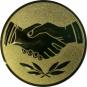 Emblem 25 mm Hände, gold