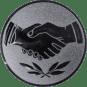 Emblem 25 mm Hände, silber