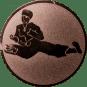 Emblem 25 mm Karatekämpfer, bronze