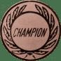 Emblem 25 mm Kranz CHAMPION, bronze