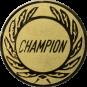 Emblem 25 mm Kranz CHAMPION, gold