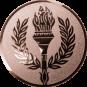 Emblem 25 mm Siegesfackel, bronze
