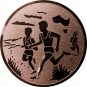 Emblem 25mm 2 Laeufer am See, bronze