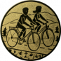 Emblem 25mm 2 Radfahrer, gold