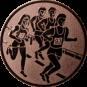 Emblem 25mm 4 Laufer, bronze