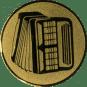 Emblem 25mm Akkordeon 2, gold
