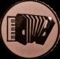 Emblem 25mm Akkordeon, bronze