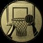 Emblem 25mm Basketball m. Korb 2, gold