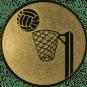 Emblem 25mm Basketball m. Korb, gold