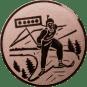 Emblem 25mm Biathlon, bronze