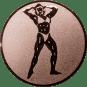 Emblem 25mm Bodybuilding weibl., bronze