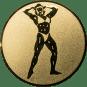 Emblem 25mm Bodybuilding weibl., gold