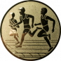 Emblem 25mm Drei Laeufer, gold