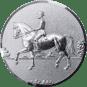 Emblem 25mm Dressurreiter 3D, silber