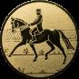 Emblem 25mm Dressurreiter, gold