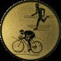 Emblem 25mm Duathlon, gold