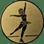 Emblem 25mm Eiskunstläuferin,  gold