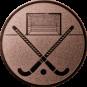 Emblem 25mm Feldhockey, bronze