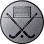 Emblem 25mm Feldhockey, silber
