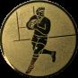 Emblem 25mm Footballer, gold