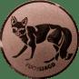 Emblem 25mm Fuchsjagd, bronze