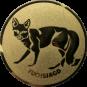 Emblem 25mm Fuchsjagd, gold