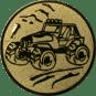 Emblem 25mm Gelände-Buggy, gold