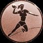 Emblem 25mm Handball Werferin, bronze