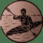 Emblem 25mm Kajakfahrer, bronze