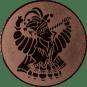 Emblem 25mm Karnevalsprinz, bronze
