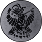 Emblem 25mm Karnevalsprinz, silber